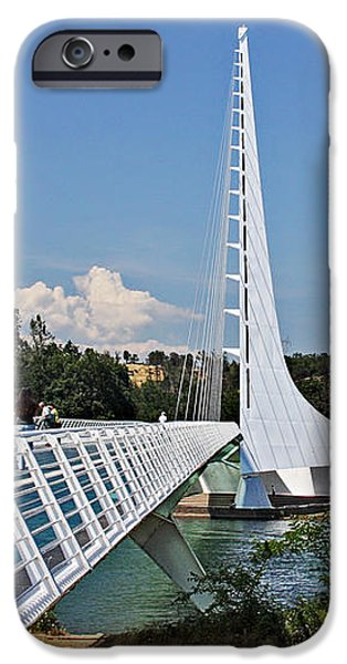 Sundial Bridge - Sit and watch how time passes by iPhone Case by Christine Till