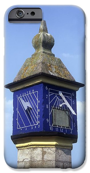 Countess iPhone Cases - Sundials On The Countess Pillar, Cumbria iPhone Case by Martin Bond