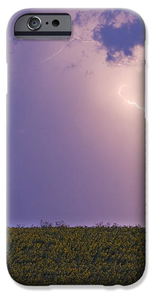 Sunflower Fields Lightning Storm Nature Print iPhone Case by James BO  Insogna