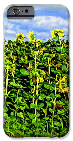 Sunflowers in France iPhone Case by Joan  Minchak