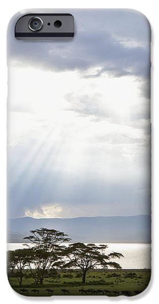 Sunlight Shines Down Through The Clouds iPhone Case by David DuChemin