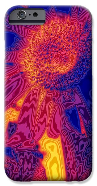 Hallucination iPhone Cases - Sunny and Wild iPhone Case by Stephen Anderson
