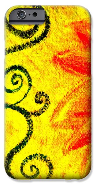 Sunny day red iPhone Case by Gwyn Newcombe