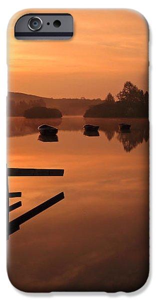 Sunrise at Knapps Loch iPhone Case by Grant Glendinning