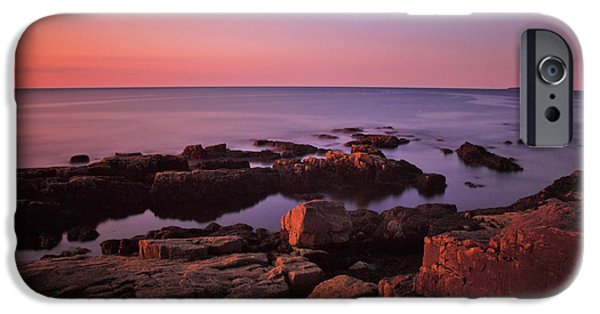 Maine iPhone Cases - Sunrise at Otter Point iPhone Case by Rick Berk