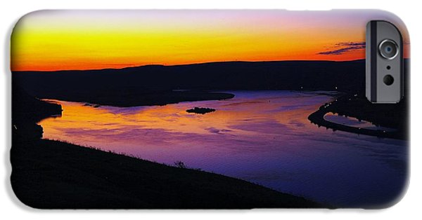 River View iPhone Cases - Sunrise At Wishram  iPhone Case by Jeff  Swan