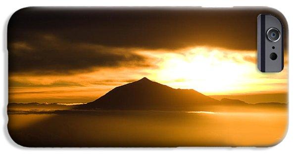 sunrise behind Mount Teide iPhone Case by Ralf Kaiser