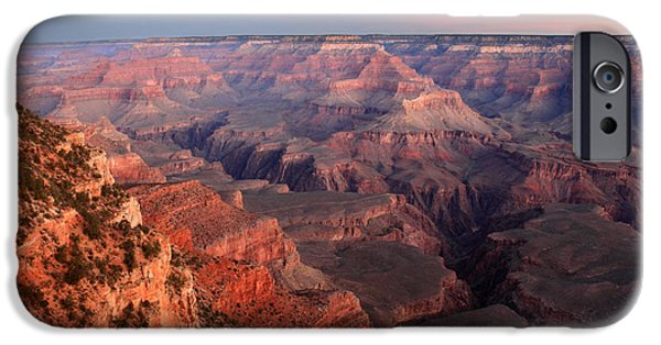 Grand Canyon iPhone Cases - Sunrise in Grand Canyon National Park iPhone Case by Pierre Leclerc Photography