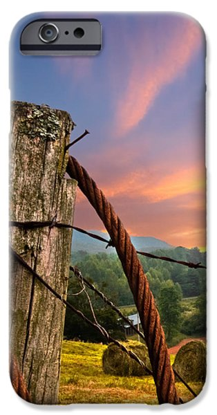 Sunrise Lasso iPhone Case by Debra and Dave Vanderlaan