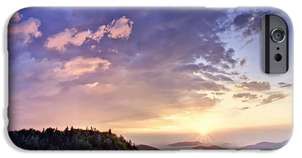 Cloudscape Photographs iPhone Cases - Sunrise on the Parkway iPhone Case by Rob Travis