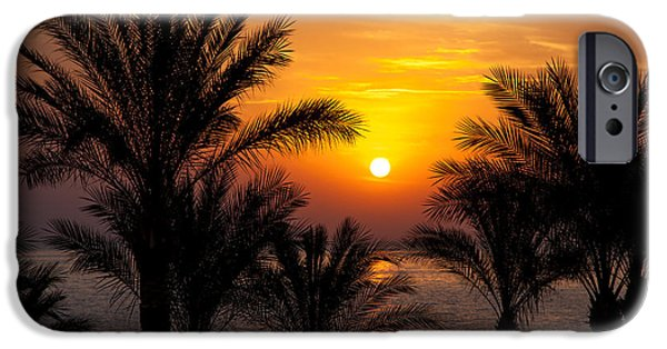 Daybreak iPhone Cases - Sunrise over the Red Sea iPhone Case by Jane Rix