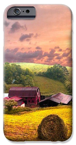 Sunrise Pastures iPhone Case by Debra and Dave Vanderlaan