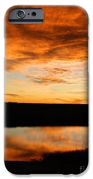 Fort Collins iPhone Cases - Sunrise reflections iPhone Case by Sara  Mayer