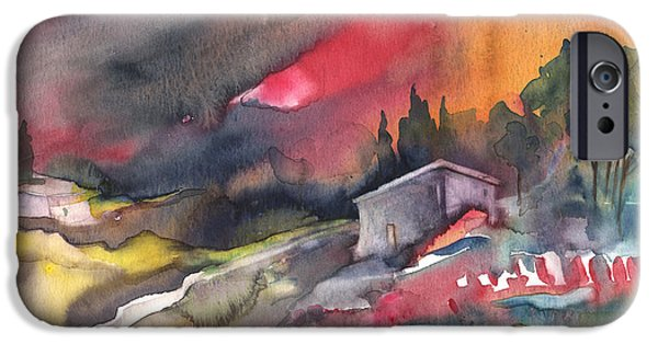 Spanish House iPhone Cases - Sunset 33 iPhone Case by Miki De Goodaboom