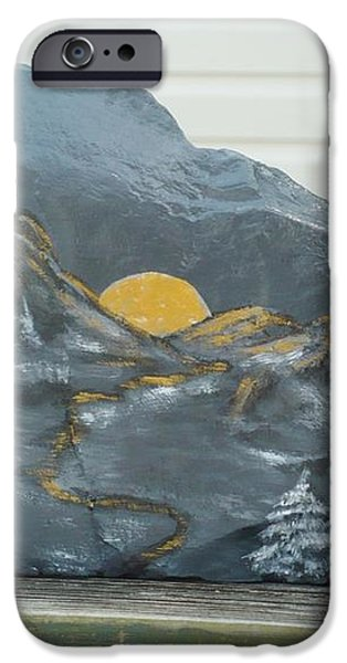 Sunset and Mountains iPhone Case by Monika Dickson-Shepherdson