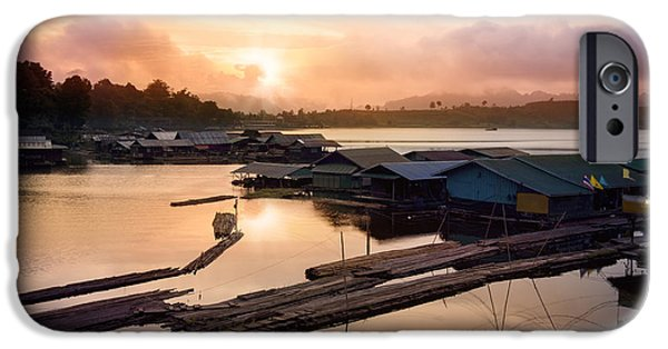 Thailand iPhone Cases - Sunset At Fisherman Villages  iPhone Case by Setsiri Silapasuwanchai