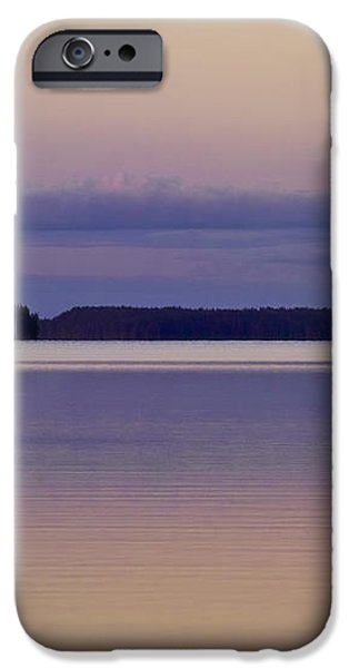 Sunset at Lake Muojaervi iPhone Case by Heiko Koehrer-Wagner