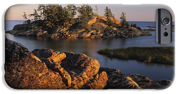 Killarney Provincial Park iPhone Cases - Sunset, Chikanishing Creek, Killarney iPhone Case by Ron Watts