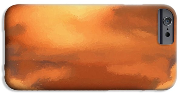 Beautiful Scenery iPhone Cases - Sunset clouds iPhone Case by Pixel Chimp