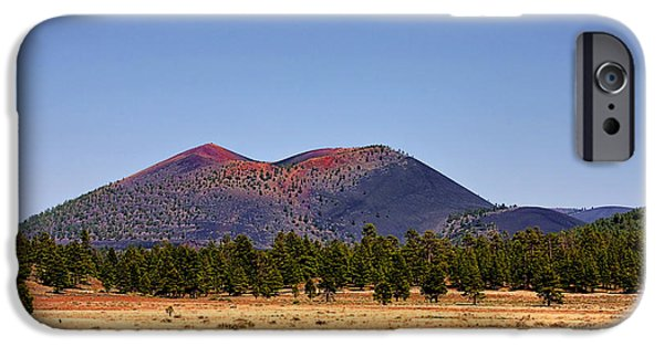 Arizona iPhone Cases - Sunset Crater Volcano National Monument iPhone Case by Christine Till