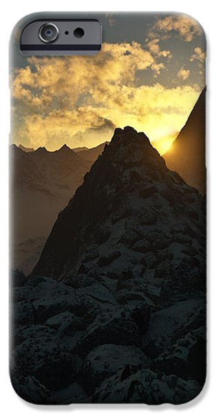 Sunset in the Stony Mountains iPhone Case by Hakon Soreide