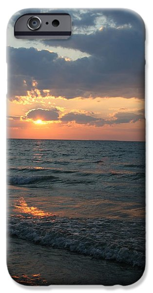 Chicago iPhone Cases - Sunset Mackinaw City iPhone Case by Donna Gibson
