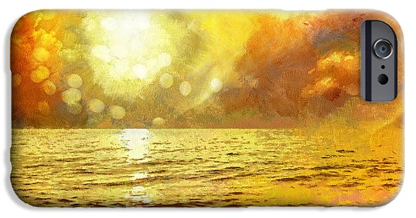 Ocean Sunset iPhone Cases - Sunset iPhone Case by Mo T