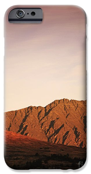 Mountains iPhone Cases - Sunset mountain 2 iPhone Case by Pixel Chimp