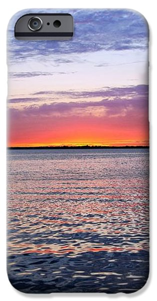 Sunset On Barnegat Bay I - Jersey Shore iPhone Case by Angie Tirado