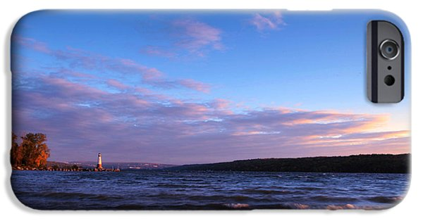 Ithaca iPhone Cases - Sunset on Cayuga Lake Ithaca iPhone Case by Paul Ge