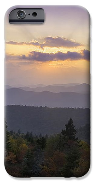 Sunset on the Blue Ridge Parkway iPhone Case by Rob Travis