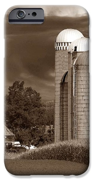 Sunset On The Farm S iPhone Case by David Dehner