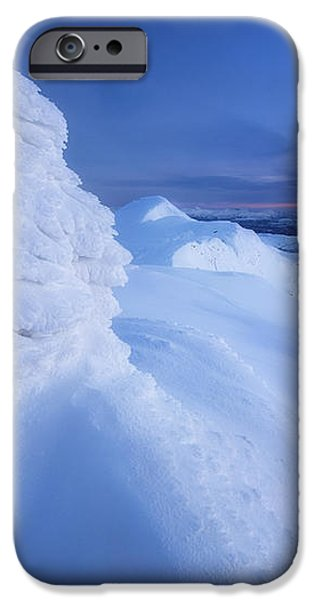 Sunset On The Summit Toviktinden iPhone Case by Arild Heitmann