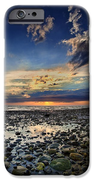 Epic Photographs iPhone Cases - Sunset Over Bound Brook Island iPhone Case by Rick Berk