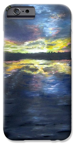 Jack Skinner Pastels iPhone Cases - Sunset Over Mystic Lakes iPhone Case by Jack Skinner