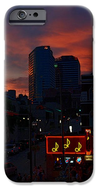 Sunset over Nashville iPhone Case by Susanne Van Hulst