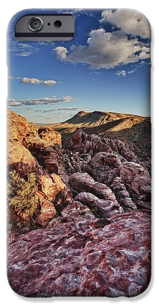 Red Rock iPhone Cases - Sunset over Red Rocks iPhone Case by Rick Berk