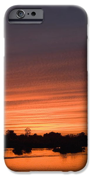 Sunset Over River iPhone Case by Axiom Photographic