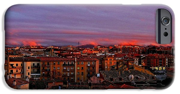 Spanien iPhone Cases - Sunset over Segovia ... iPhone Case by Juergen Weiss