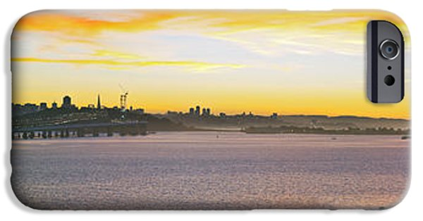 Bay Bridge iPhone Cases - Sunset over the Bay iPhone Case by Kelley King
