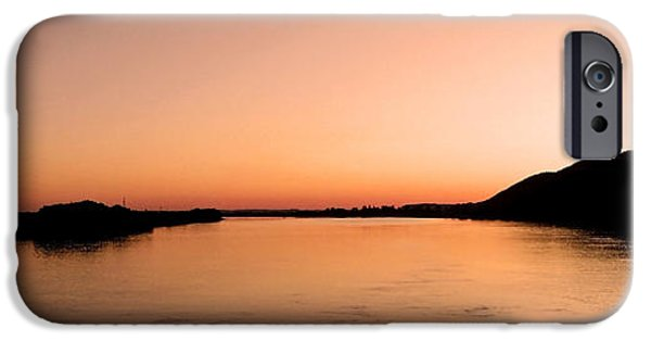 Abstract Digital Photographs iPhone Cases - Sunset over the Danube ... iPhone Case by Juergen Weiss