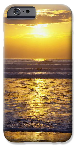 Sunset Over The Pacific Ocean Along The iPhone Case by Craig Tuttle