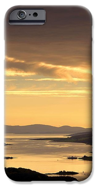 Peaceful Scenery iPhone Cases - Sunset Over Water, Argyll And Bute iPhone Case by John Short