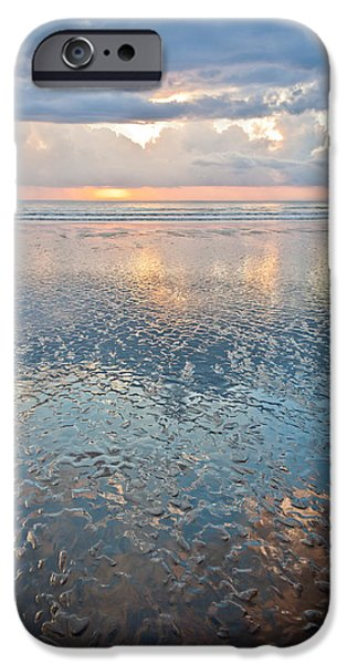 Jaco iPhone Cases - Sunset Reflection - Small Ripples iPhone Case by Anthony Doudt