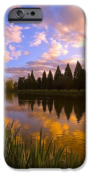 Sunset Reflection On A Pond, Portland iPhone Case by Craig Tuttle