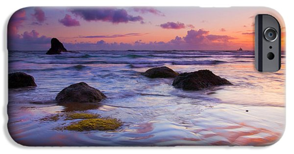Sunset iPhone Cases - Sunset Ripples iPhone Case by Mike  Dawson