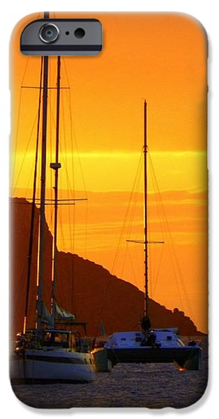 Sunset Sails iPhone Case by KAREN WILES