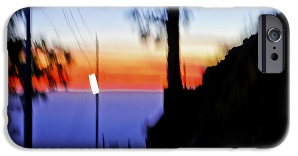 Abstract Forms iPhone Cases - Sunset Sign iPhone Case by Kantilal Patel