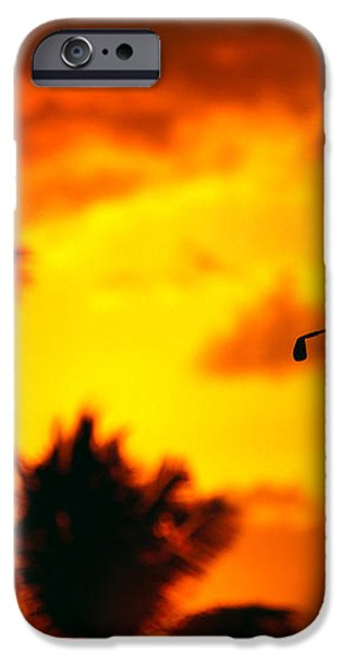 Sunset Silhouetted Golfer iPhone Case by Dana Edmunds - Printscapes