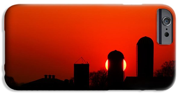 Silos iPhone Cases - Sunset Silo iPhone Case by Cale Best
